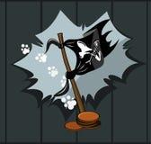 Piratenmarkierungsfahne stock abbildung