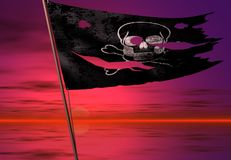 Piratenmarkierungsfahne Lizenzfreie Stockbilder