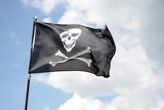 Piratenmarkierungsfahne lizenzfreie stockfotos