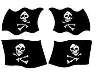 Piratenmarkierungsfahnen Lizenzfreies Stockbild