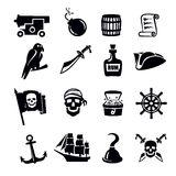 Piratenpictogram stock illustratie