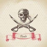 Piratenschädel Lizenzfreies Stockbild
