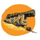 Piratenschatz-Marinegewehr Stockfotos