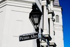 Piratensteeg stock foto