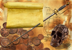 Piratenthema 1 Stockbild
