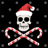 Piratenweihnachten Stockbild