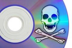 Piratería de Digitaces Fotografía de archivo