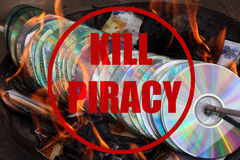Piratería de la matanza Imágenes de archivo libres de regalías