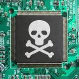 Piratería del Cyber Fotografía de archivo