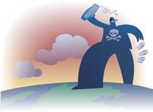 Piratería global stock de ilustración