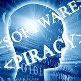 Pirateria software Immagini Stock