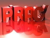piraterie de 3D Word sur le fond rouge Photos libres de droits