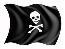Pirateriemarkierungsfahne Lizenzfreie Stockfotos