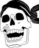 Piraterieschädel Stockbild