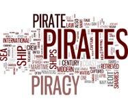 Pirates. Word cloud on white background Royalty Free Stock Photos
