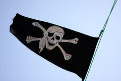 Pirates. Flag with skull and bones Royalty Free Stock Photography