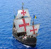Pirates. A replica of Christopher Columbus' ship Santa Maria