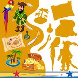 Pirates attributes vector illustration