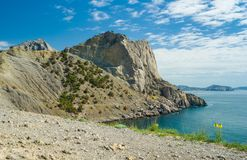 Pirates' Bay and Koba-Kaya mountain Stock Photography