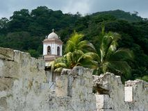 Pirates bay, panama. Fortress in pirates bay, panama stock image