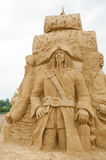 Pirates of the Caribbean. BURGAS, BULGARIA - JULY 2011: Pirates of the Caribbean on the Sand Sculptures festival in Burgas.The participants are from eight Royalty Free Stock Image