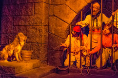 Pirates of the caribbean ride. At Disney World in Orlando Florida Stock Images