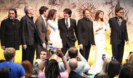 Pirates of the Caribbean: On Stranger Tides. May 12, 2011 - Westfield, London - Pirates of the Caribbean: On Stranger Tides, UK premiere. From right to left Royalty Free Stock Photo
