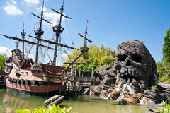 Pirates of Caribbean Theme. In Eurodisney near Paris Stock Images