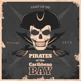 Pirates Of Carribbean Bay Vintage Poster Stock Image
