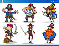 Pirates Cartoon Characters Set vector illustration