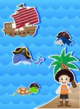 Pirates Cartoon for your design vector Royalty Free Stock Images