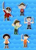 Pirates Cartoon for your design vector Stock Photo