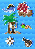 Pirates Cartoon for your design vector Stock Images