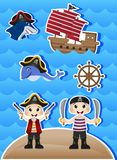 Pirates Cartoon for your design vector Stock Photography