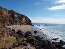 Pirates Cove. Hidden pirates cove on the California Malibu coast Royalty Free Stock Images