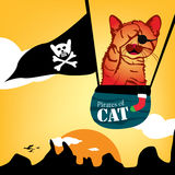 Pirates de chat illustration stock