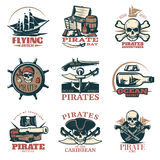 Pirates Emblem Set In Color Royalty Free Stock Images