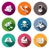 Pirates flat Icon set Stock Photography