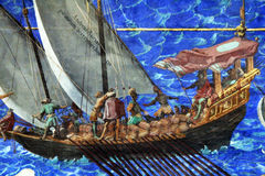 Pirates fresco. The detail of a fresco in the maps room in the vatican museum at rome Stock Photos