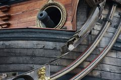 Pirates galleon Stock Images