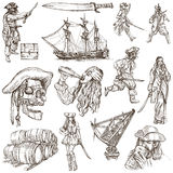Pirates - an hand drawn collection Stock Images