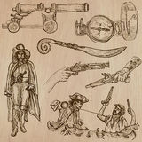 Pirates - an hand drawn vector pack no.11 royalty free illustration