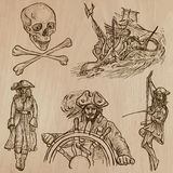 Pirates - an hand drawn vector pack no.10 Stock Photography