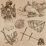 Pirates - an hand drawn vector pack no.12 Stock Photo