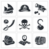 Pirates Icon collection Royalty Free Stock Images