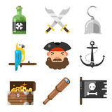 Pirates icon set Royalty Free Stock Images
