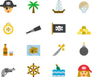 Pirates icon set Royalty Free Stock Image