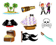 Pirates icon set Stock Photos