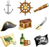 Pirates icons royalty free illustration
