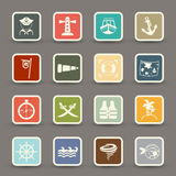 Pirates icons Royalty Free Stock Photos